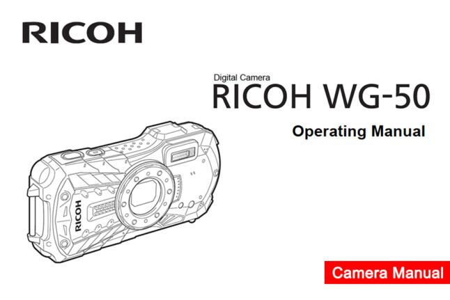 Ricoh WG-50 Owners Manual pdf