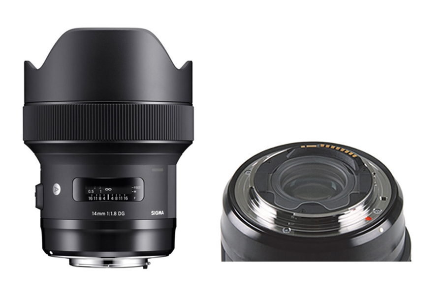 SIGMA 14mm F1.8 DG HSM Art Rear filter holder